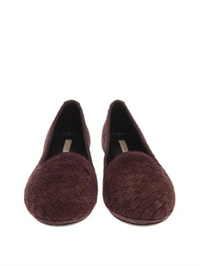 Bottega Veneta Intrecciato suede outdoor slippers
