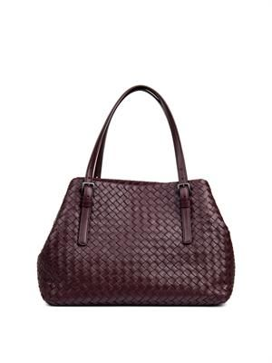 Intrecciato small leather tote