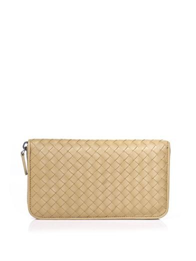 Bottega Veneta Intrecciato leather zip wallet