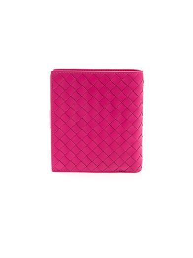 Bottega Veneta Intrecciato leather flap wallet