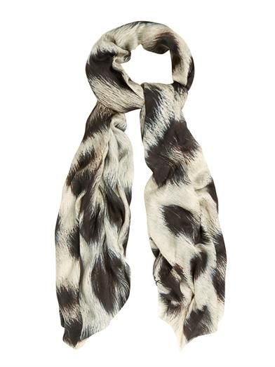 Lily and Lionel Cleo leopard-print scarf