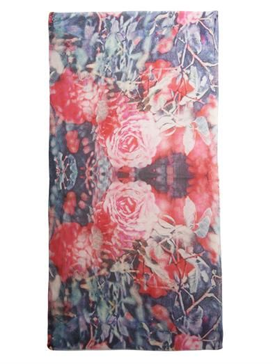 Lily and Lionel Rosa vermillion-print scarf