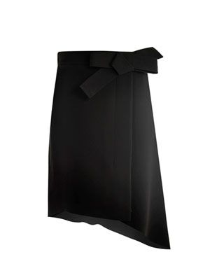 Asymmetric wrap-skirt