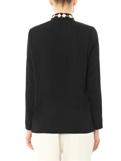 Lanvin Embellished collar blouse