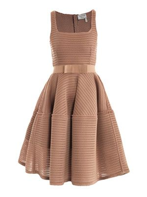 Honeycomb open-weave dress