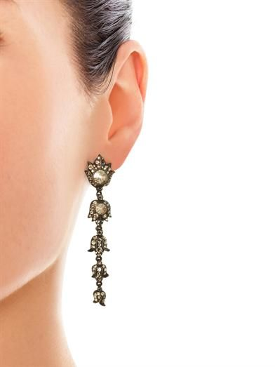 Lanvin Blanche crystal earrings
