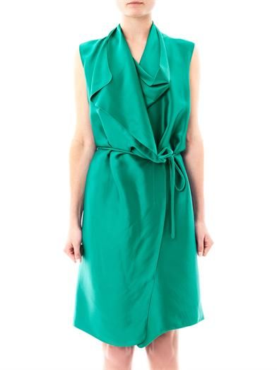 Lanvin Draped satin wrap dress