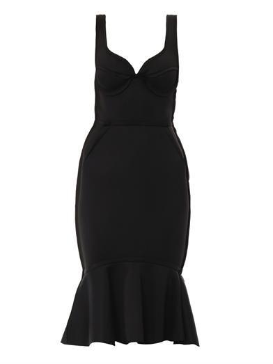 Lanvin Sweetheart neckline techno-jersey dress
