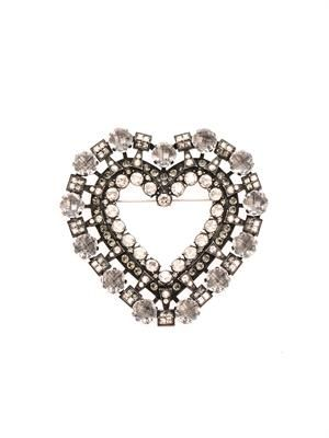 Heart brooch belt