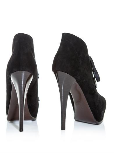 Lanvin Suede high heel ankle boots