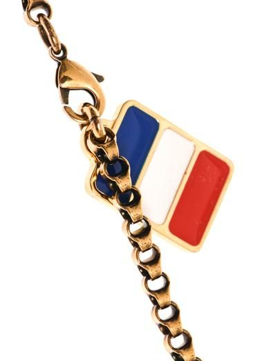 Lanvin Calvi flag necklace