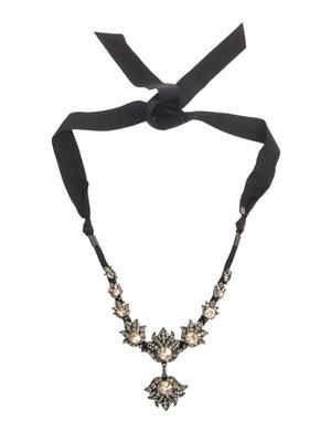 Blanche crystal necklace
