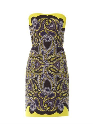 Lanvin Paisley-print techno-mesh dress