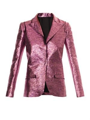 Metallic lamé jacket