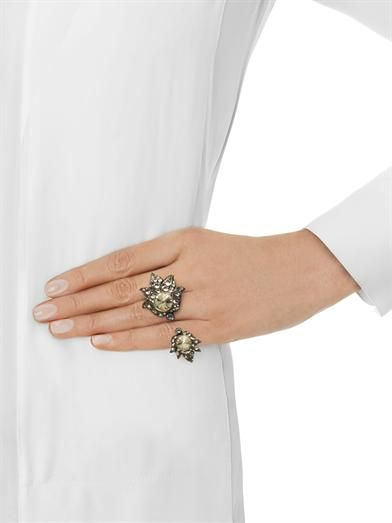 Lanvin Blanche two finger ring
