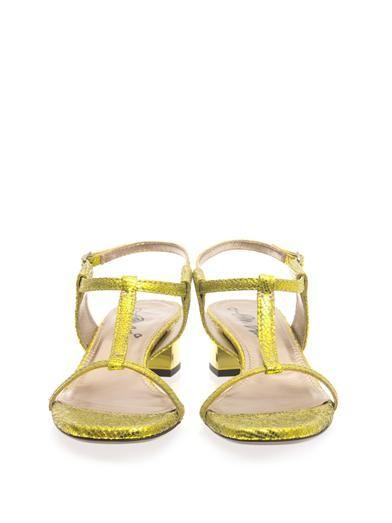 Lanvin Metallic block-heel sandals
