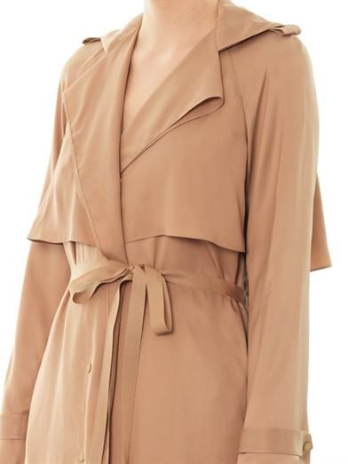 Lanvin Satin-crepe trench coat