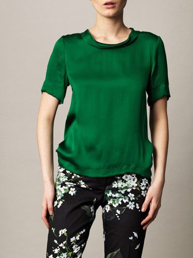 Lanvin Silk satin T-shirt