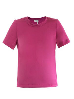 Short sleeve satin top