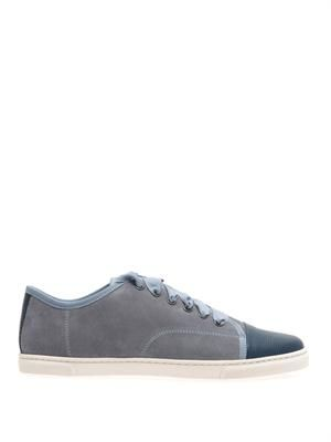Suede leather-toe trainers