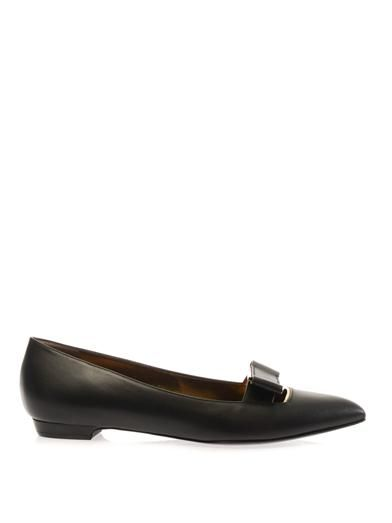 Lanvin Bow-detail leather flats