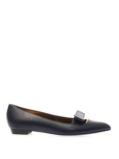Lanvin Leather-bow flats
