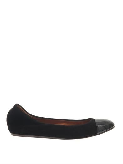 Lanvin Suede and patent-leather ballet flats