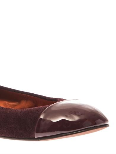 Lanvin Captoe suede and leather ballet flats