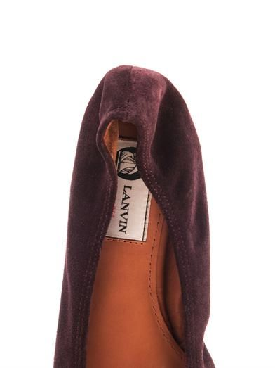 Lanvin Suede and patent leather ballet flats