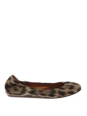 Leopard-print ballet flats