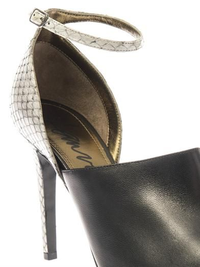 Lanvin Snakeskin and leather sandals