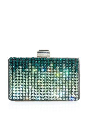 Crystal embellished box clutch