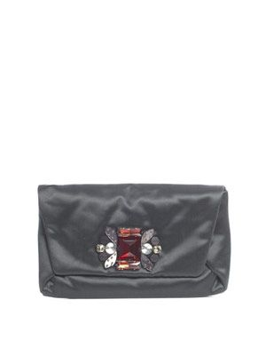 Swarovski crystal-embellished clutch