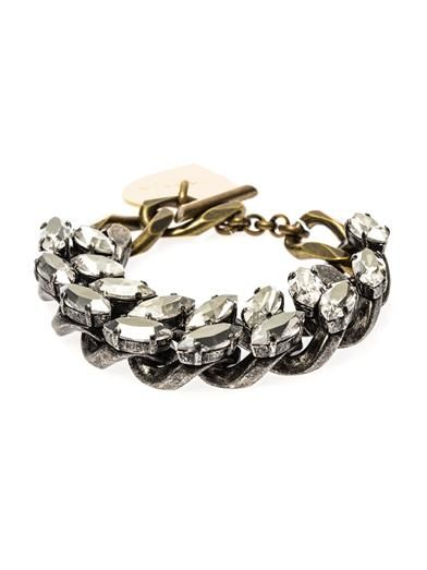 Lanvin Susan crystal and chain bracelet