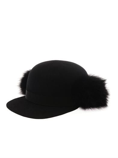 Lanvin Felt and fur cap