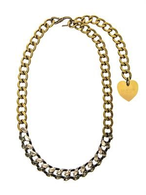 Susan crystal and chain necklace