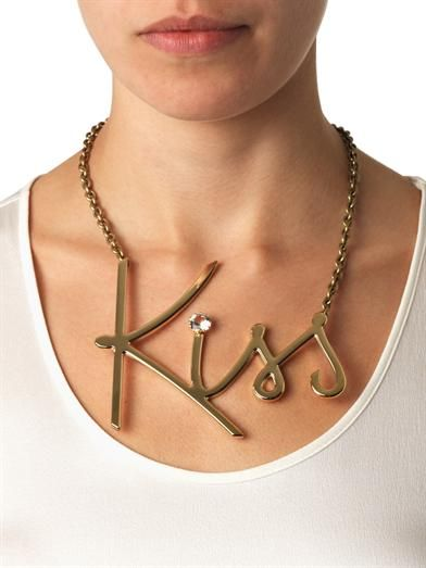 Lanvin Iconic Kiss necklace