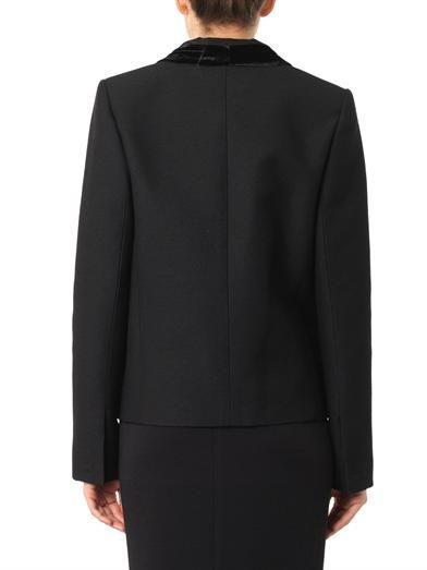 Lanvin Velvet-trim wool-blend jacket