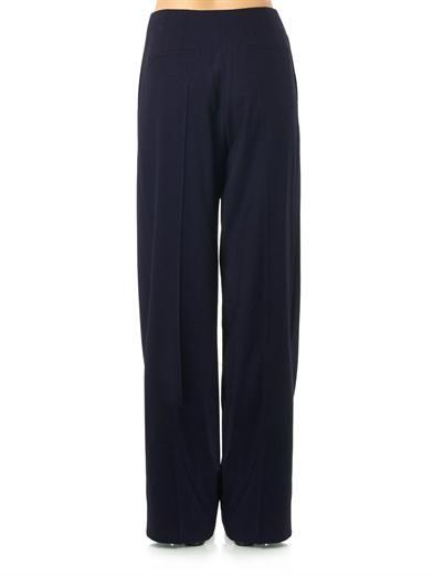 Lanvin Wide-leg wool trousers