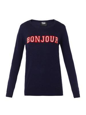 Natalie Bonjour Au revoir sweater
