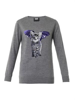 Natalie Cat-bat sequin sweater