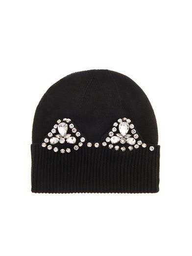 Markus Lupfer Cat-ear jewelled hat