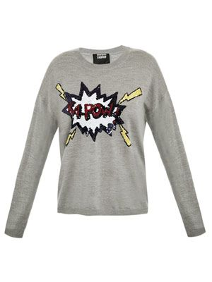 'Kapow' sequin sweater