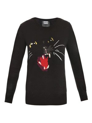Intarsia cat sweater