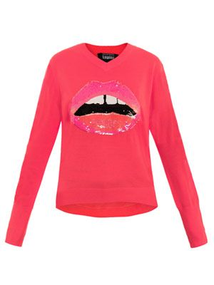 Sequin Lips sweater