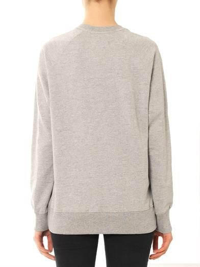 Markus Lupfer Embellished M cotton sweatshirt