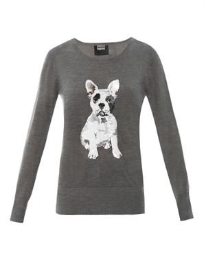 Natalie French Bulldog sequin sweatshirt