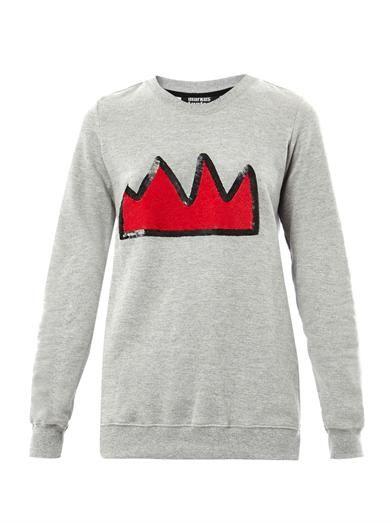 Markus Lupfer Sequin crown sweatshirt