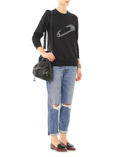 Markus Lupfer Embellished safety-pin sweatshirt