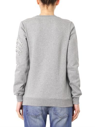 Markus Lupfer Sequin claw-scratches sweatshirt